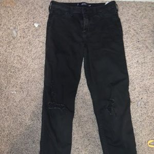 Black Ripped Hollister Jeans